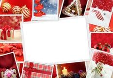 Φωτογραφίες Χριστουγέννων με το διάστημα αντιγράφων Στοκ Εικόνες