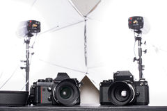 φωτογραφικές μηχανές παλ&al Στοκ Εικόνες