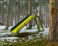 Φωτογραφική διαφάνεια παιδιών το χειμώνα Στοκ Φωτογραφίες