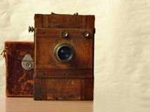 φωτογραφική μηχανή ξύλινη στοκ εικόνα