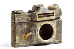 φωτογραφική μηχανή που καταστρέφεται slr Στοκ Φωτογραφίες