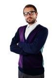 φωτογραφική μηχανή που φαίνεται nerd σπουδαστής Στοκ εικόνα με δικαίωμα ελεύθερης χρήσης