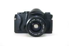 Φωτογραφική μηχανή SLR με το φακό Στοκ Φωτογραφία