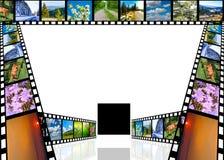 Φωτογραφική ταινία με τις εικόνες Στοκ Εικόνα