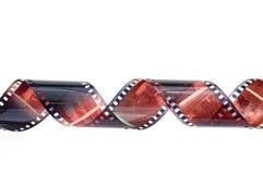 Φωτογραφικός αρνητικός ταινιών που απομονώνεται στοκ φωτογραφία