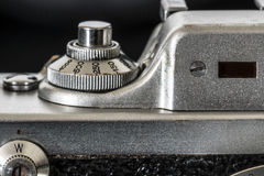 Φωτογραφικός στενός επάνω λεπτομέρειας καμερών Στοκ Εικόνες