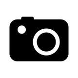 φωτογραφικό απομονωμένο σχέδιο εικονιδίων καμερών Στοκ φωτογραφία με δικαίωμα ελεύθερης χρήσης