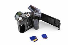 φωτογραφικών μηχανών χειρωνακτική μνήμη ταινιών καρτών κλασική Στοκ Εικόνα