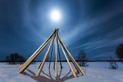 Φωτοστέφανος φεγγαριών Στοκ εικόνες με δικαίωμα ελεύθερης χρήσης