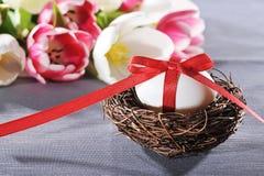 Φωλιά Πάσχας με το αυγό Πάσχας Στοκ Εικόνες