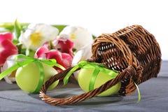 Φωλιά Πάσχας με το αυγό Πάσχας Στοκ εικόνα με δικαίωμα ελεύθερης χρήσης