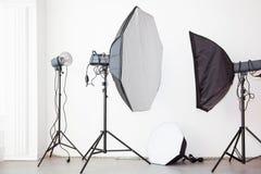 Φω'τα λάμψης στούντιο Στοκ Φωτογραφίες