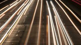 Φω'τα από τα αυτοκίνητα timelapse απόθεμα βίντεο