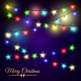 Φω'τα αστεριών Χριστουγέννων διανυσματική απεικόνιση