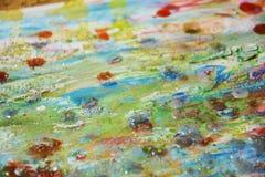 Φω'τα, αφηρημένο υπόβαθρο κρητιδογραφιών λάσπης κίτρινο μπλε πορτοκαλί Στοκ εικόνα με δικαίωμα ελεύθερης χρήσης