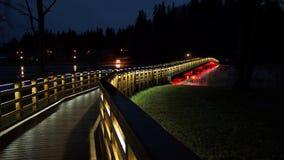Φω'τα γεφυρών και πόλεων νύχτας Στοκ φωτογραφίες με δικαίωμα ελεύθερης χρήσης