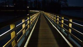 Φω'τα γεφυρών και πόλεων νύχτας Στοκ φωτογραφία με δικαίωμα ελεύθερης χρήσης