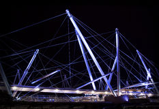 Φω'τα γεφυρών Kurilpa Στοκ φωτογραφία με δικαίωμα ελεύθερης χρήσης