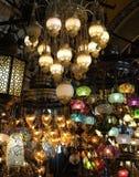Φω'τα για την πώληση στο μεγάλο Bazaar στη Ιστανμπούλ Στοκ Εικόνες