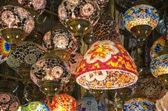 Φω'τα για την πώληση στο μεγάλο Bazaar στη Ιστανμπούλ Στοκ Εικόνα