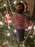 Φω'τα διακοσμήσεων Χριστουγέννων Merman στοκ φωτογραφία