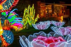 Φω'τα δράκων, κινεζικό φεστιβάλ φαναριών Αλμπικέρκη, NM στοκ εικόνα