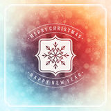 Φω'τα ευχετήριων καρτών Χαρούμενα Χριστούγεννας και Στοκ Εικόνα