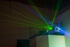 Φω'τα θαλάμων του DJ Στοκ εικόνα με δικαίωμα ελεύθερης χρήσης