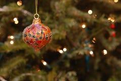 Φω'τα διακοσμήσεων & αστραπής Χριστουγέννων Στοκ Φωτογραφία