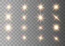 Φω'τα και αστέρια πυράκτωσης διανυσματική απεικόνιση