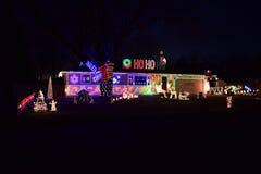 Φω'τα και διακοσμήσεις Χριστουγέννων Στοκ Εικόνες