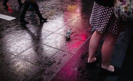 Φω'τα και σκιές της πόλης της Νέας Υόρκης Στοκ εικόνες με δικαίωμα ελεύθερης χρήσης