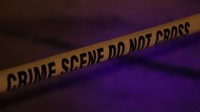 Φω'τα και ταινία σκηνών εγκλήματος απόθεμα βίντεο