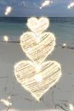 Φω'τα καρδιών Στοκ εικόνα με δικαίωμα ελεύθερης χρήσης