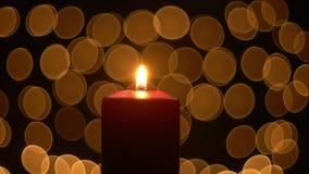 Φω'τα κεριών με την πυράκτωση bokeh φιλμ μικρού μήκους