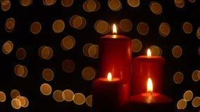 Φω'τα κεριών Χριστουγέννων απόθεμα βίντεο