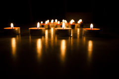 Φω'τα κεριών Στοκ εικόνα με δικαίωμα ελεύθερης χρήσης