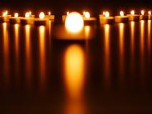 Φω'τα κεριών στοκ εικόνες