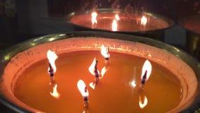 Φω'τα κεριών απόθεμα βίντεο
