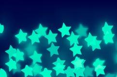Φω'τα νέου του aqua αστεριών Στοκ Εικόνα