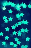 Φω'τα νέου των αστεριών & x28 aqua& x29  Στοκ Φωτογραφίες