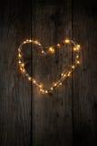 Φω'τα νεράιδων στη μορφή καρδιών Στοκ εικόνες με δικαίωμα ελεύθερης χρήσης