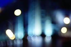 Φω'τα νύχτας θαμπάδων υποβάθρου στοκ εικόνα με δικαίωμα ελεύθερης χρήσης