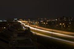 Φω'τα νύχτας πόλεων του Μόντρεαλ Στοκ φωτογραφία με δικαίωμα ελεύθερης χρήσης
