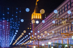 Φω'τα νύχτας στην πόλη Στοκ Εικόνες