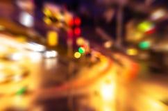 Φω'τα νύχτας της οδού αφαίρεσης πόλεων Στοκ Φωτογραφία