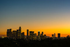 Φω'τα νύχτας του Λος Άντζελες στοκ εικόνα με δικαίωμα ελεύθερης χρήσης