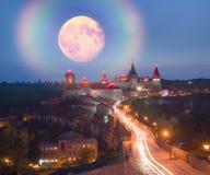 Φω'τα νύχτας του φρουρίου Στοκ Φωτογραφία