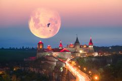 Φω'τα νύχτας του φρουρίου Στοκ εικόνα με δικαίωμα ελεύθερης χρήσης