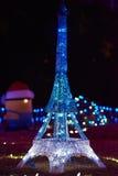 Φω'τα Παρίσι Χαρούμενα Χριστούγεννας Στοκ Εικόνες